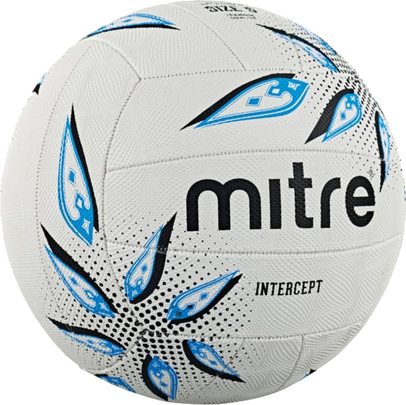 Mitre Intercept Netball White/Black/Cyan