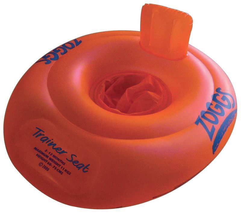 Zoggs Kis Swimming Trainer Seat Orange/Green