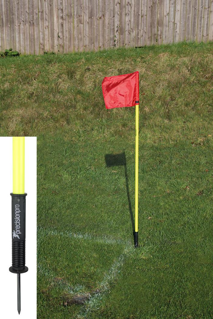 "Precision Football ""Sprung"" Corner Posts - Fluo Yellow (Set of 4)"