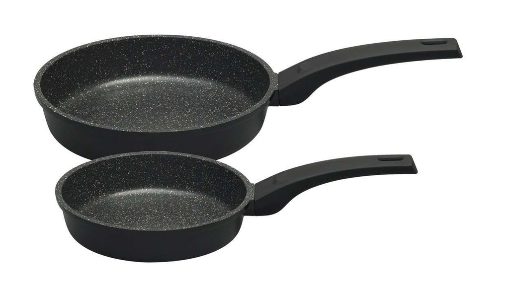 Stone Quartz Twin Frying Pan Set