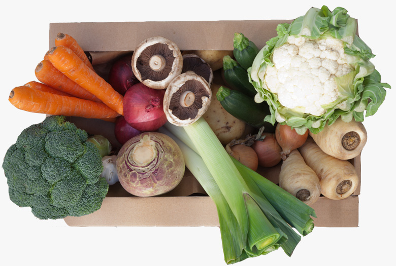 Fresh fruit & vegetable produce box from Fresh in a Box of Cambridge