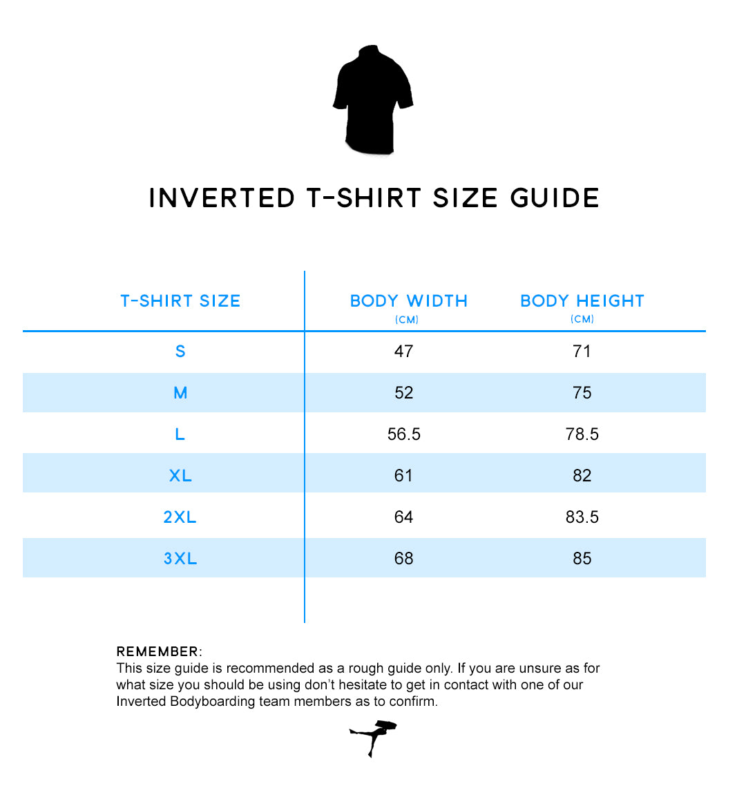 Inverted Clothing Size Guide