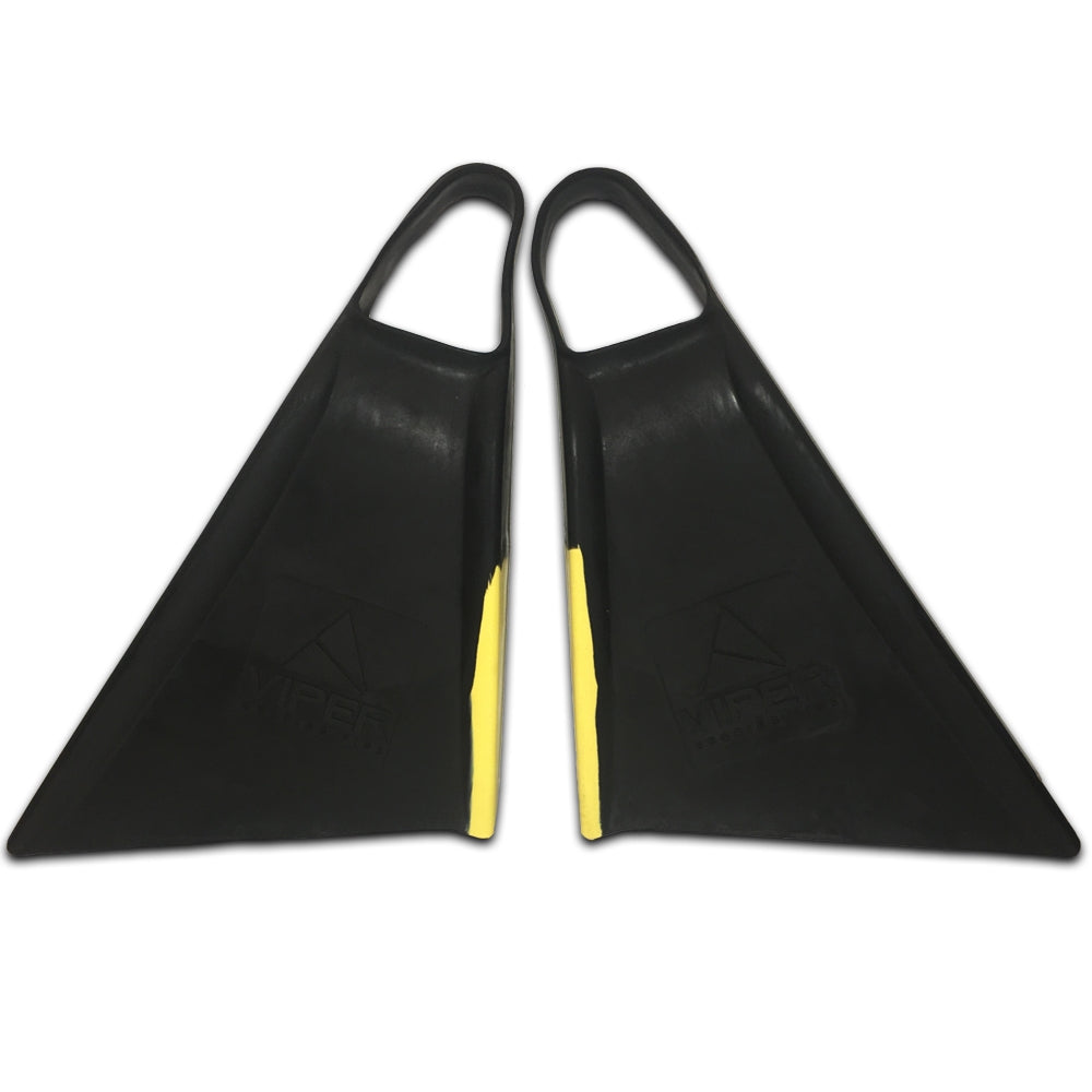 Viper Delta Fins (2nd Gen) - Black/ Yellow