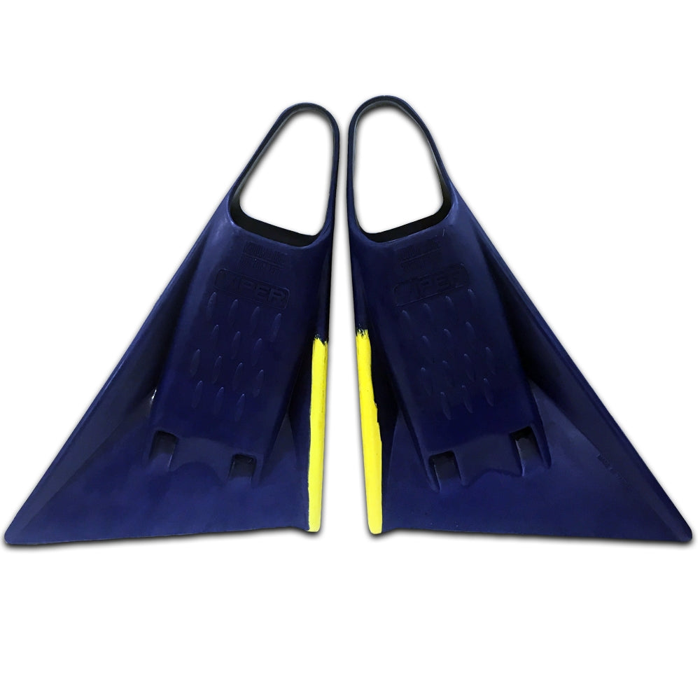 Viper Delta Fins (2nd Gen) - Royal Blue/ Yellow