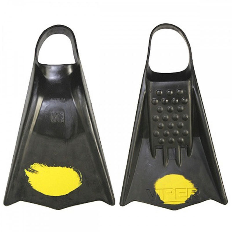 MS Viper Fins - Black/ Yellow Dot - Stiff Flex