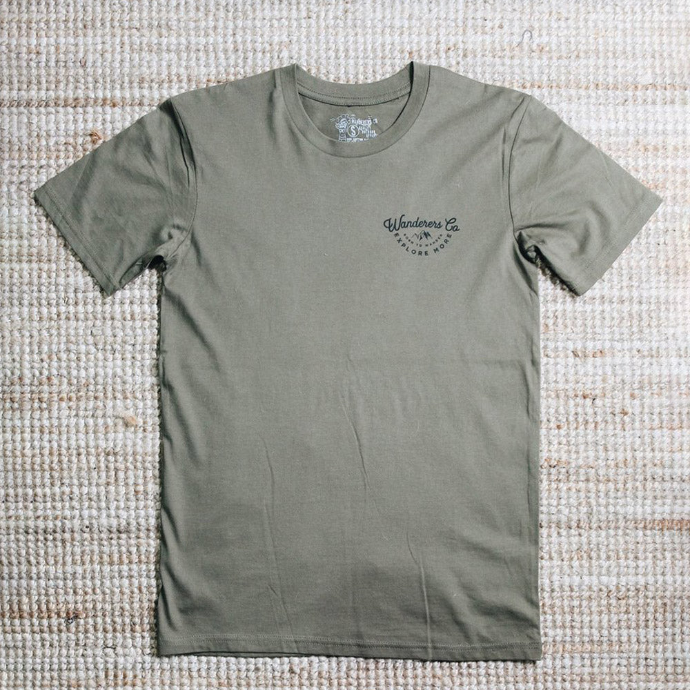 Wanderers Explore More T-Shirt (Army Green)