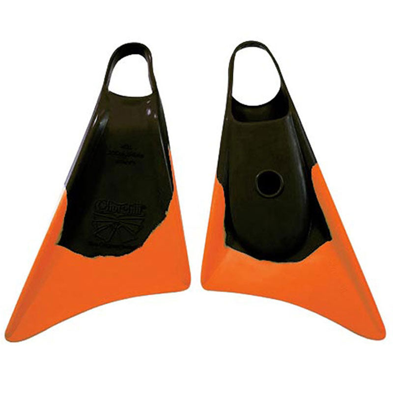 Churchill Makapuu Fins - Black/ Orange