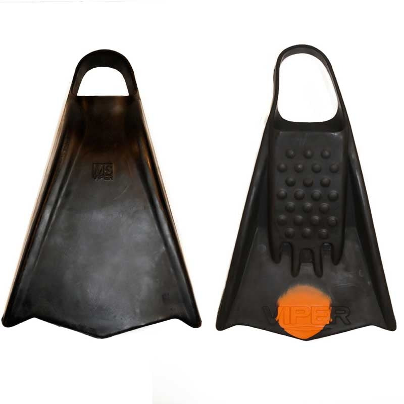 MS Viper Fins - Black/ Orange