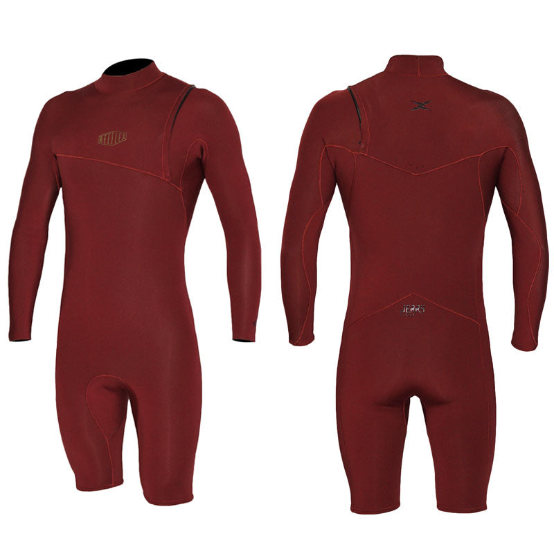Reeflex Jerry Baltic 2/2mm L/S Zipperless Springsuit - Earth Red