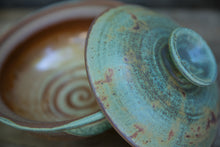 Load image into Gallery viewer, Lidded Serving Bowl in Turquoise