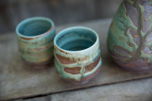Load image into Gallery viewer, Sake Set in Turquoise, with 2 cups