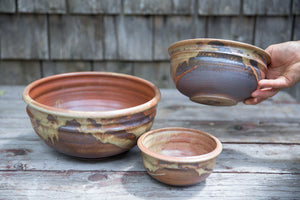 Nesting Bowl Set in Rust, 3 Pc.
