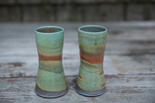 Load image into Gallery viewer, Pair of Tumblers in Turquoise & Rust