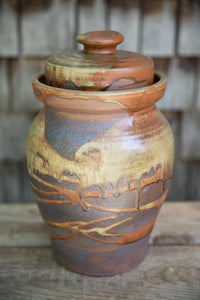 Fermentation Crock in Rust