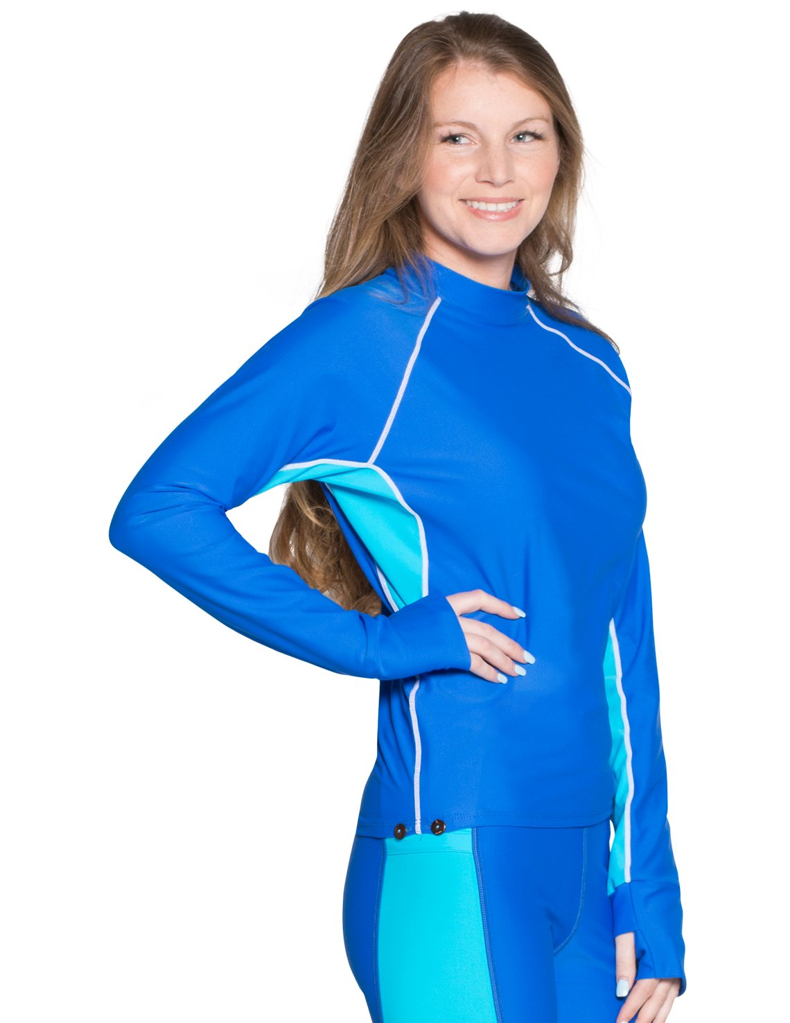 Tuga rashguard for snorkeling in blue