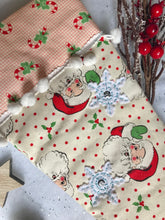 Load image into Gallery viewer, Handmade Vintage Inspired Christmas Stocking - Jolly Santa
