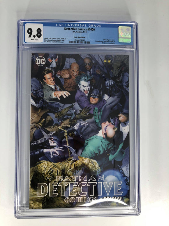 DC Detective Comics #1000 Mike Mayhew Comic Mint Cover CGC 9.8 Limited to 2500