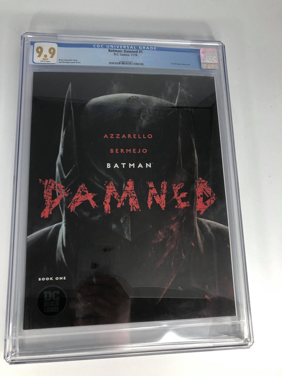 DC Black Label Batman Damned #1 9.9 CGC certified (damaged corner)