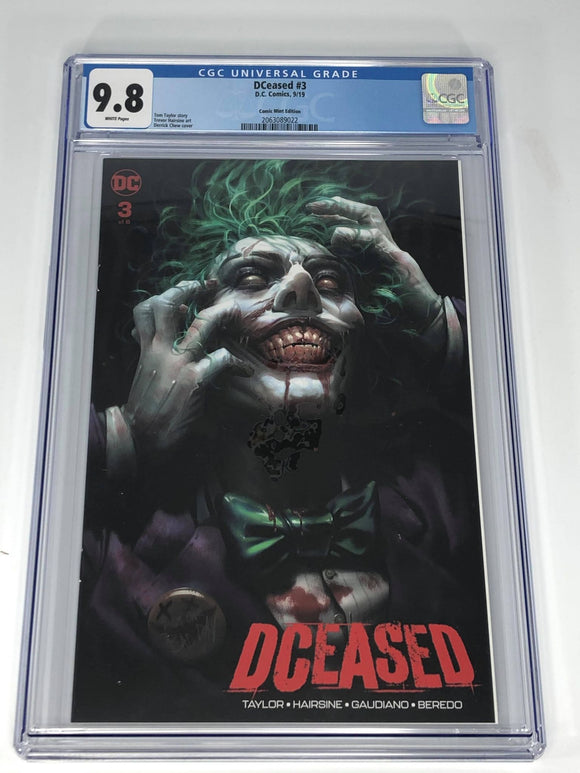 DC DCeased #3 (2019) Derek Chew Trade Dress Variant CGC 9.8