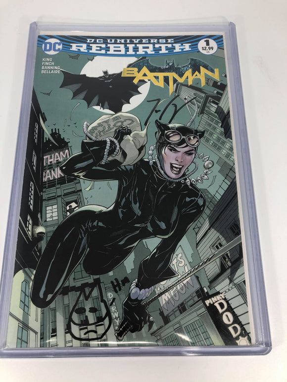 DC Batman Rebirth #1 Midtown Exclusive Terry Dodson Variant SIGNED and REMARK by Tom King