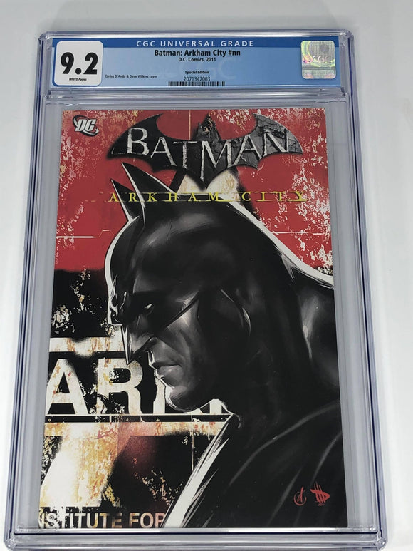 DC Batman: Arkham City Amazon Exclusive Special Issue CGC 9.2