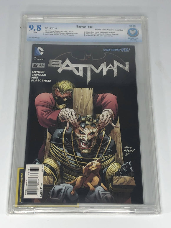 DC Batman #39 (2015) Andy Kubert 1:25 Retailer Incentive CBCS 9.8