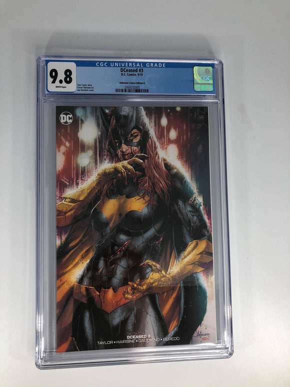 DC DCEASED #3 Jay Anacleto Unknown Comics Edition B CGC 9.8 Minimal Trade Dress