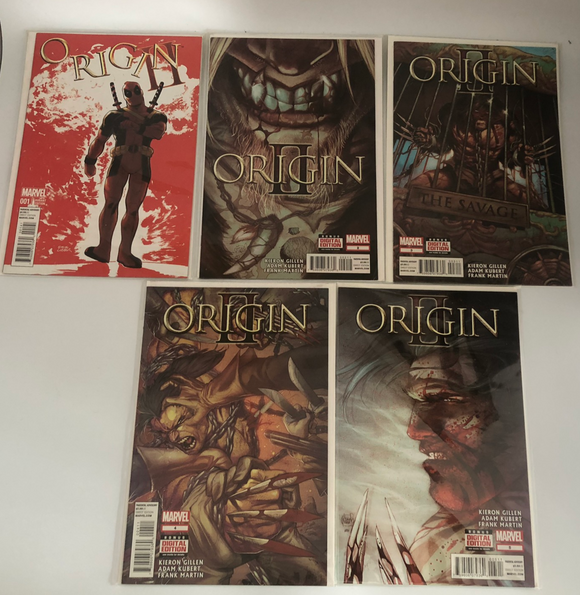 Marvel Origin II (2014) #1-5 Issue 1 Deadpool Variant