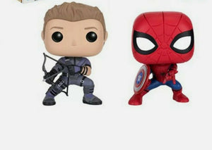 Funko Pop! Vinyl Marvel Hawkeye & Spider-Man Civil War Out Of Box