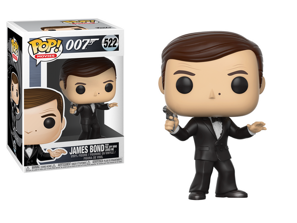 Funko Pop! Vinyl Movies 007 James Bond Rodger Moore The Spy who loved me #522