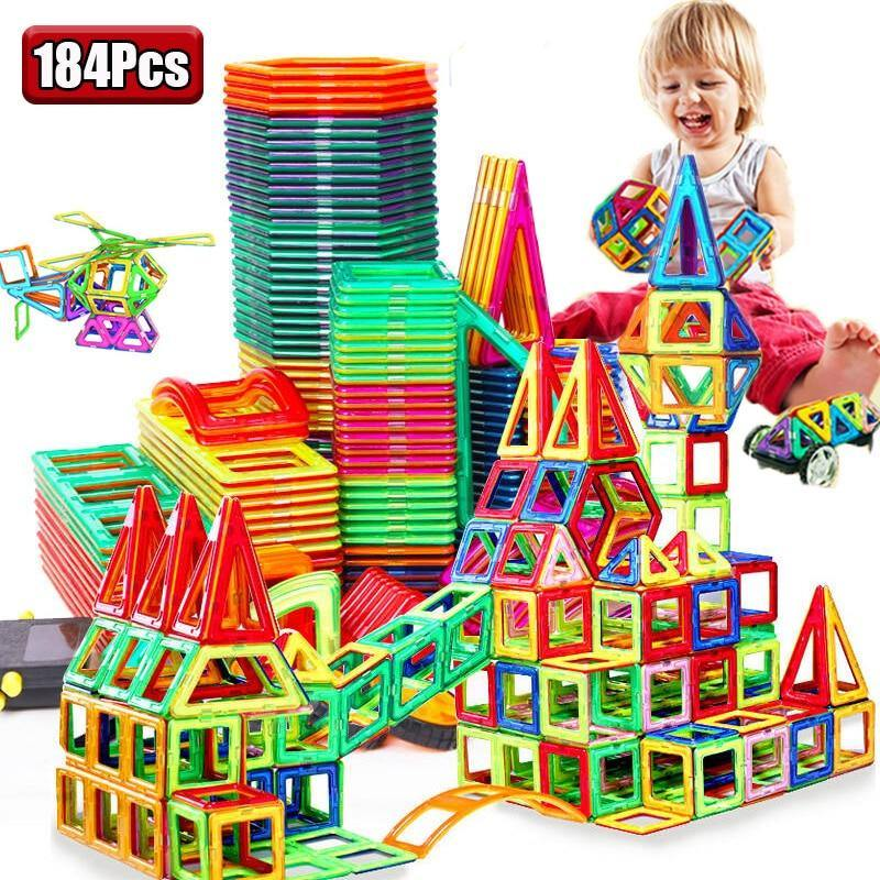 Magnetic Construction Set 2.0™ (184 pieces) - My Sweet Tots