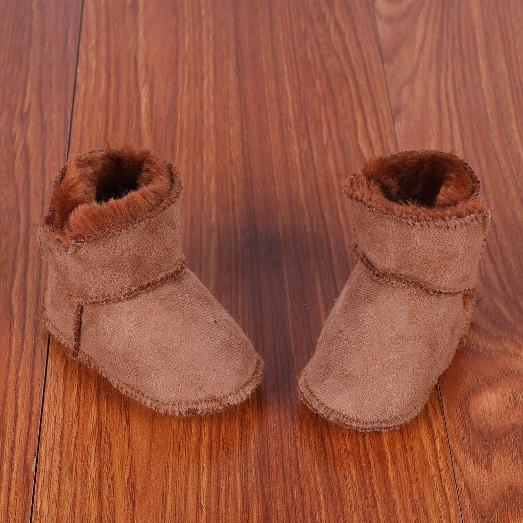 First Faux Fur Leather boots - My Sweet Tots