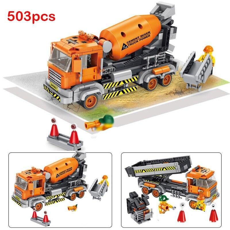 Construction Trucks Building Blocks - My Sweet Tots