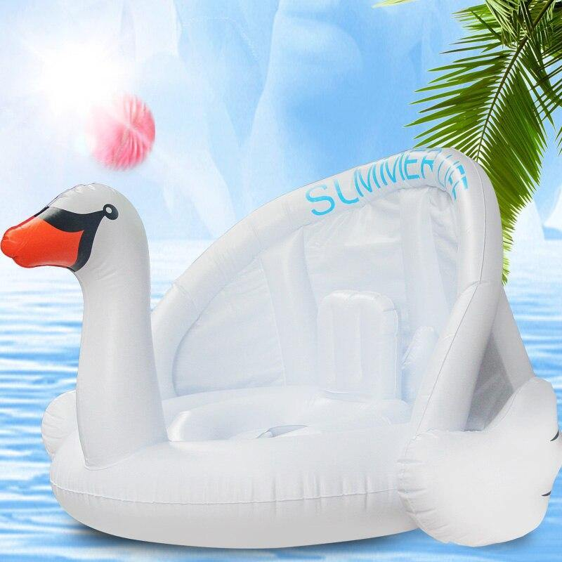 Baby Inflatable Flamingo With Sunshade - My Sweet Tots