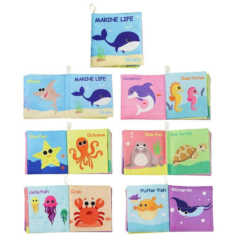 Animal Cognition Soft Cloth Book - My Sweet Tots