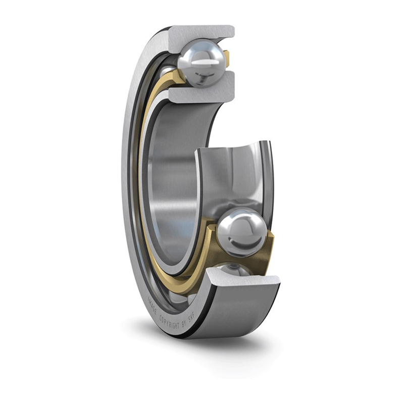 Part Number 7214-BECBY by SKF Angular Contact Ball Bearing, type, cross reference and dimension
