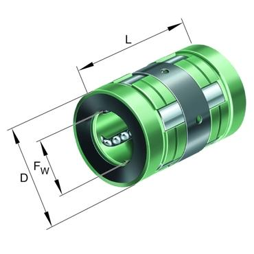 Part Number KN16 by INA Linear Ball Bearing and Housing Unit, type, cross reference and dimension