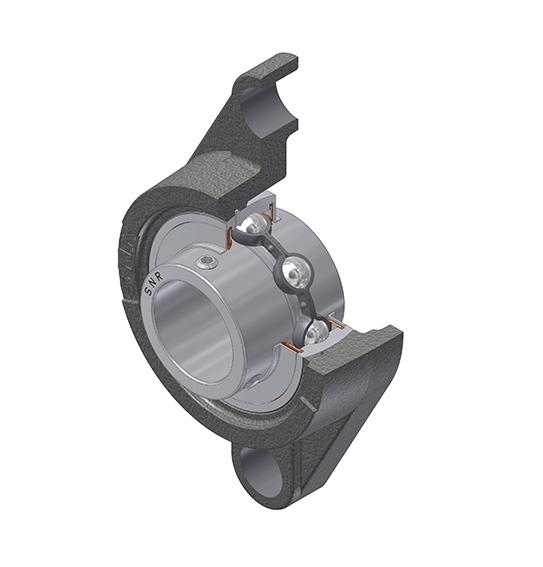 Part Number SUCFL203 by SNR Flanged Housing Unit, type, cross reference and dimension