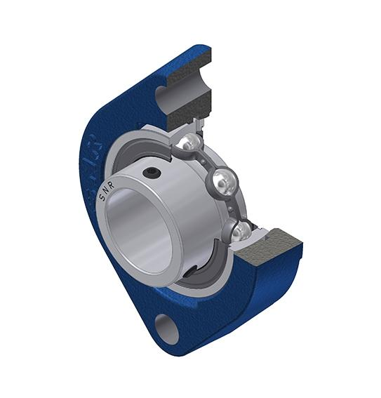 Part Number USFD201 by SNR Flanged Housing Unit, type, cross reference and dimension