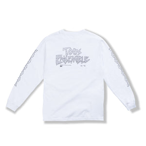 "White ""Chain Links"" Long Sleeve"