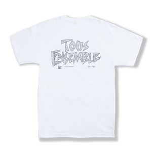 "White ""Tous Ensemble"" T-Shirt"