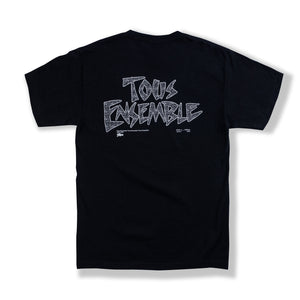"Black ""Tous Ensemble"" T-Shirt"