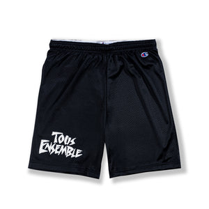 "Black ""Phys Ed"" Mesh Shorts"