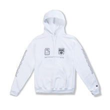 "Load image into Gallery viewer, White ""Stay Home"" Hoodie"