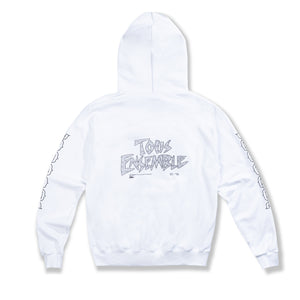 "White ""Stay Home"" Hoodie"