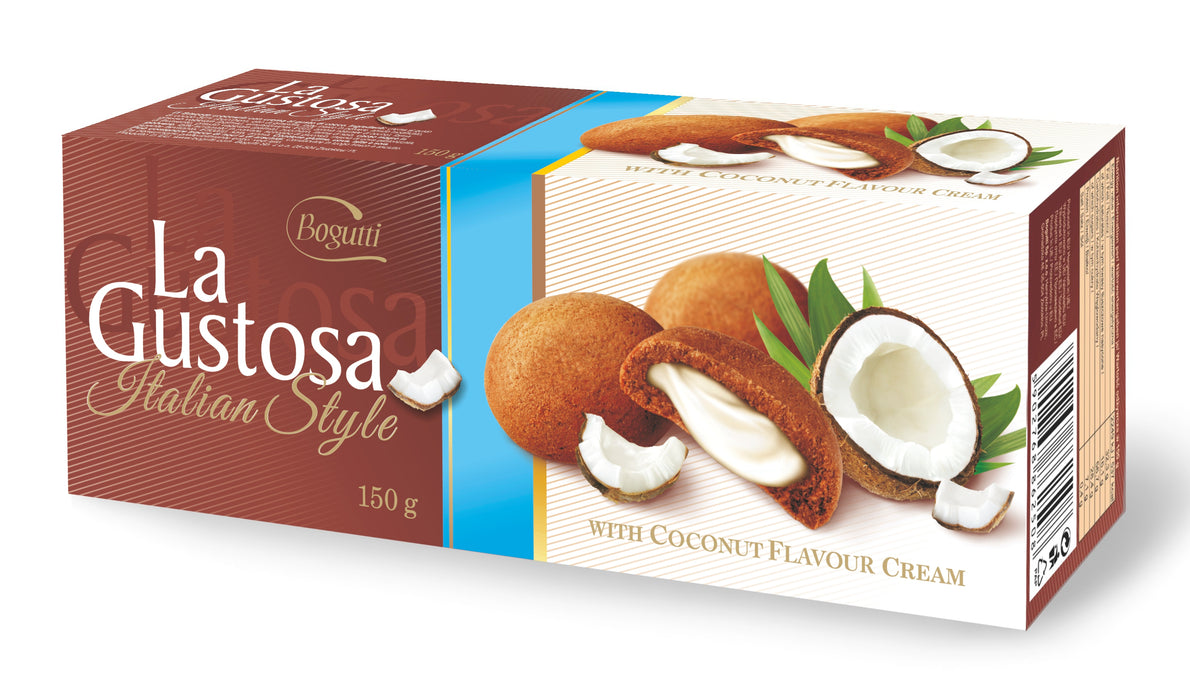 Bogutti La Gustosa Luxurious Cookies with Coconut Flavour Cream 150g