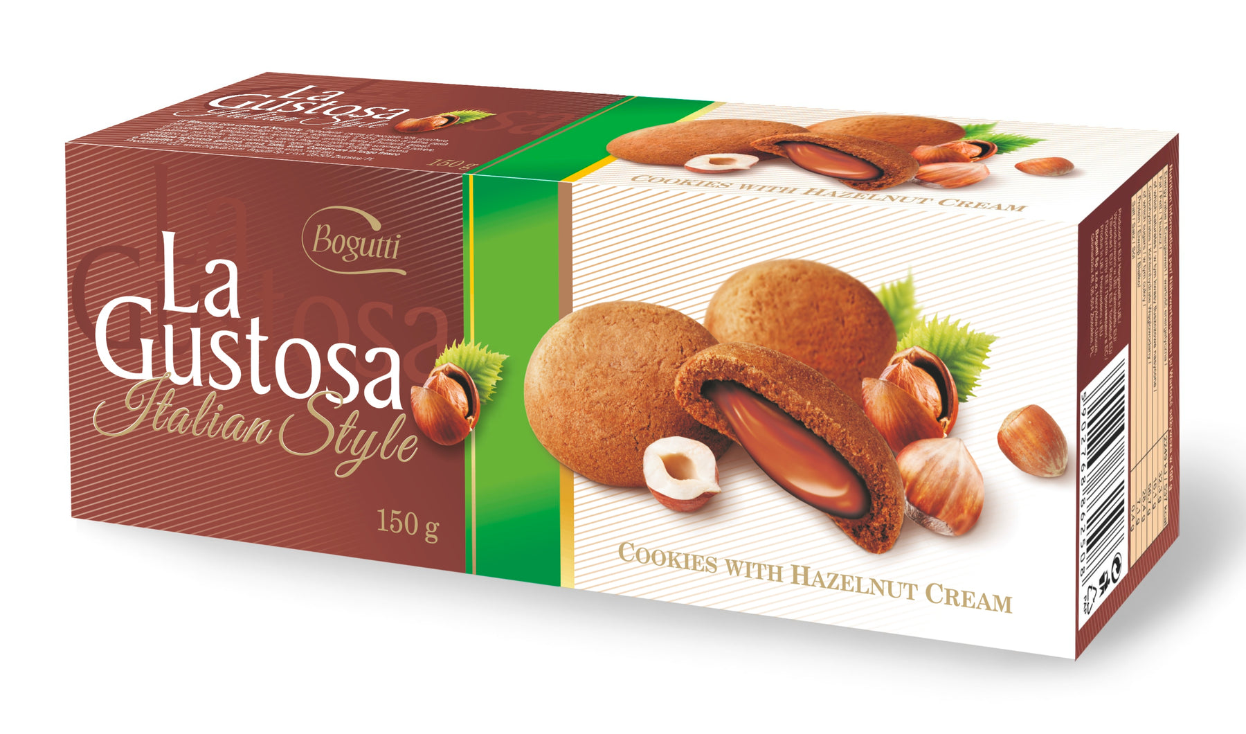 Bogutti La Gustosa Luxurious Cookies with Hazelnut Cream 150g