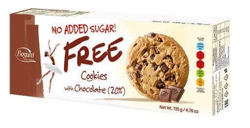 Bogutti No Added Sugar Free Chocolate Cookies 135g
