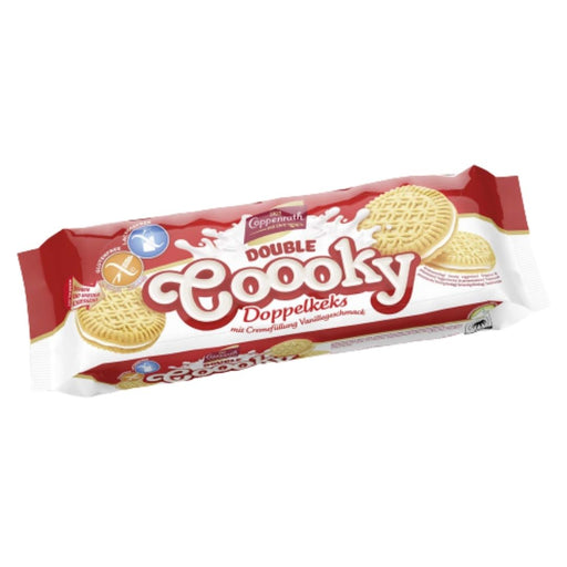 Coppenrath Double Coooky Vanilla Cream Cookies Gluten & Lactose Free 300g
