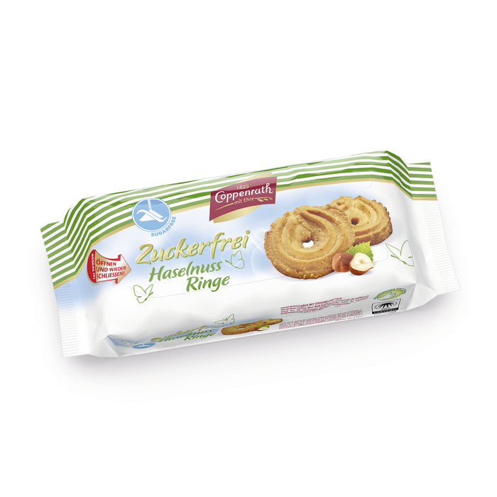 Coppenrath Sugar-Free Hazelnut Rings 200g